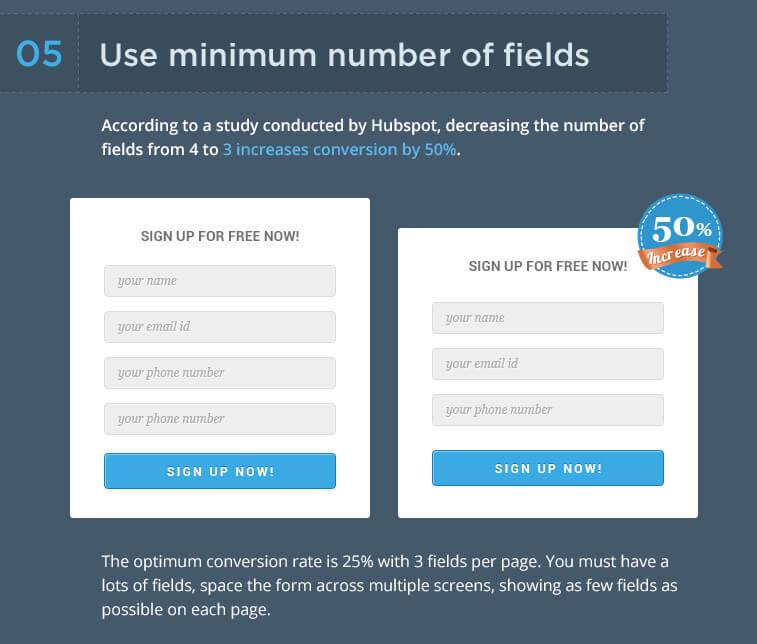 champs formulaires web optimiser conversions